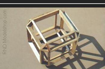 Beveled Cube, part of the 'Cube into Octahedron' cantellation sequence