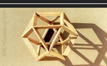 Cuboctahedron wood models