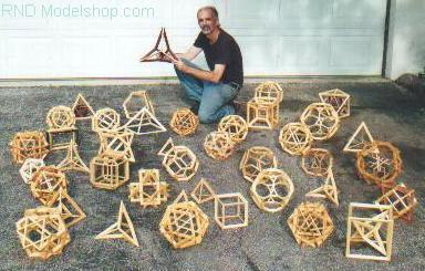 9&quot; & 12&quot; all wood geometric models for displays, educators & collectors 