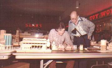 1982 scratchbuilt basswood scale models