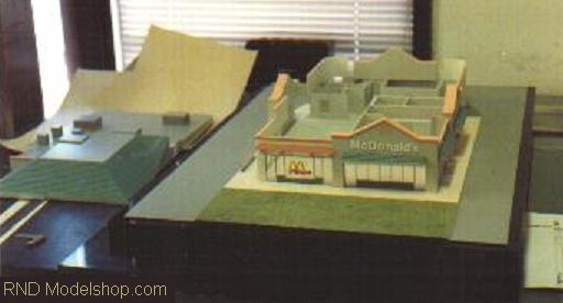 McDonalds restaurant competition acrylic model with removable roof