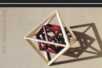 Octahedron with Cuboctahedron inside to show vertex relationship (36pc)