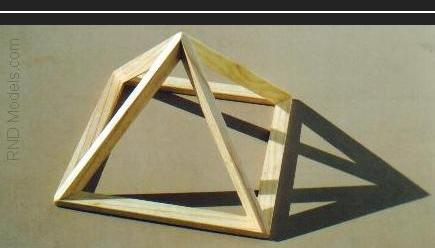 Wood Pyramid Models