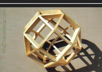 Rhombicuboctahedron wood model