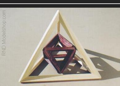 Tetrahedron with Octahedron inside to show vertex to midpoint relationships