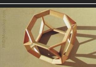 Truncated Cube wood model