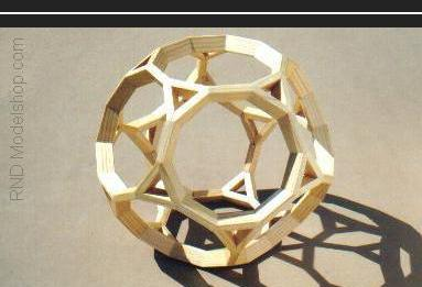 Truncated Dodecahedron wood model