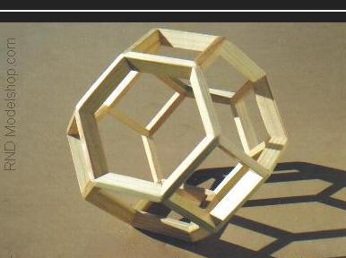 Truncated Octahedron wood model