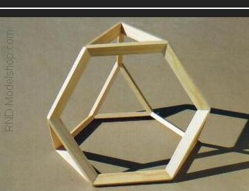 Truncated Tetrahedron wood model