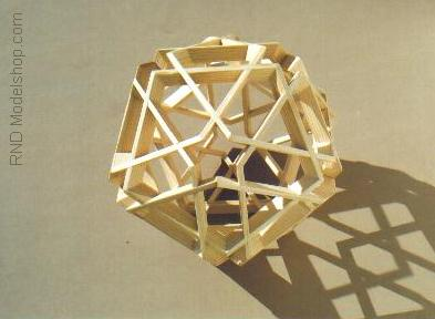 Icosahedron display model