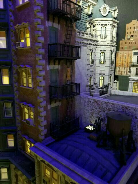 "1/12"" Scale miniature City in the Window"