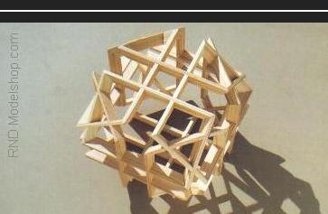Truncated Cube made of 12 beveled rectangle frames, 4 each on 3 axis  (48pc)