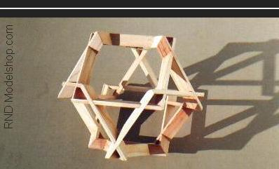 Cube of 6 square beveled frames (24pc) wood sculpture