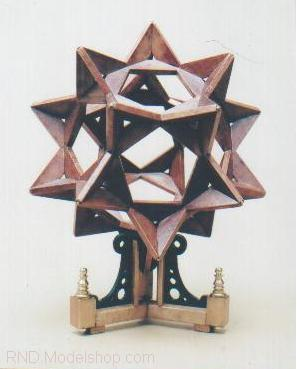 "Icosidodecahedron (20 Tetrahedron) Victorian Jules Verne ""Steampunk"" sculpture"